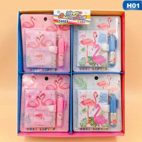Flamingo-Einhorn-Familien-Notizbuch mit Kugelschreiber Schulbriefpapier Gute War
