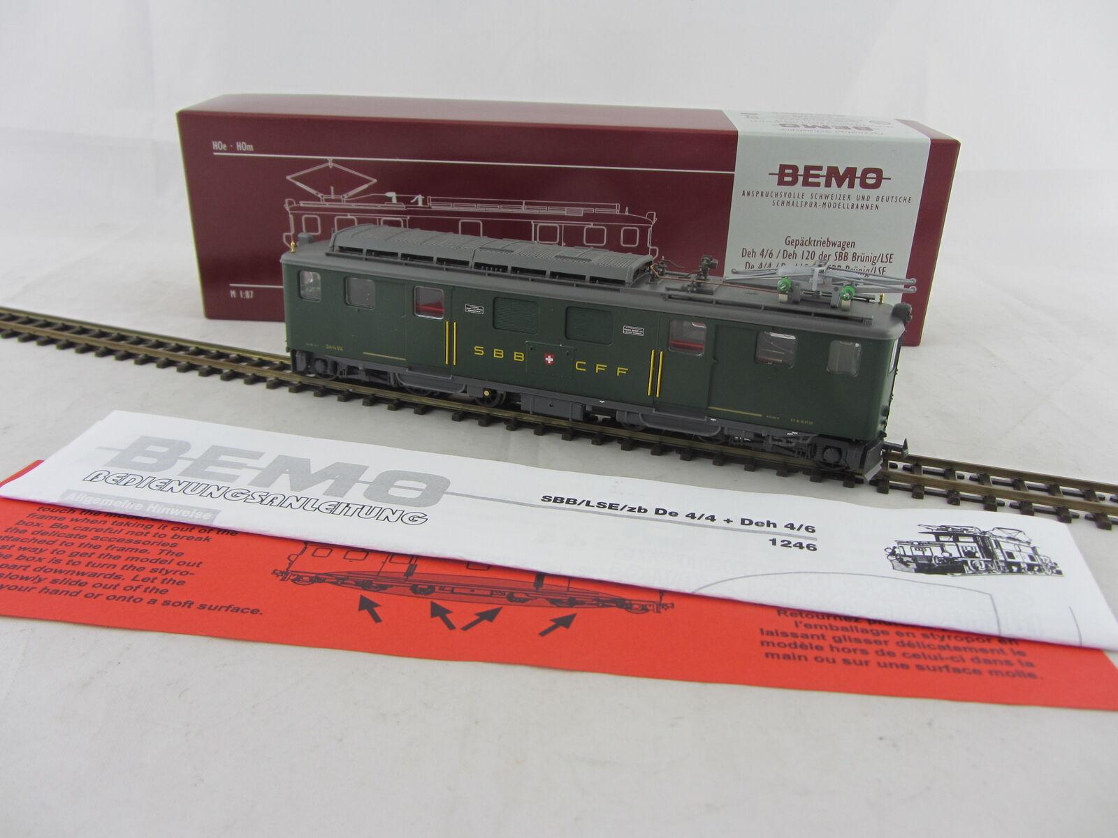 Bemo 1246 414 gepäcktriebwagen deh 4 6 914 de los SBB, en el nuevo-estado con embalaje original