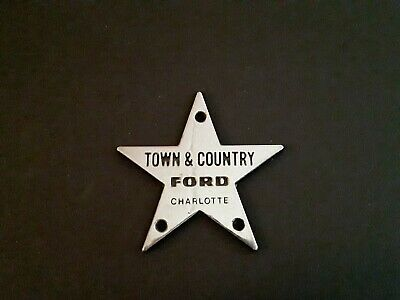 VGT Automobile Dealership Silver Metal Star Emblem Town ...