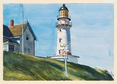 Edward Hopper Lighthouse at Two Lights Giclee Poster Print