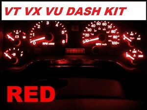 VT-VX-VU-DIY-RED-LED-Dash-Conversion-KIT-Commodore-Berlina-Calais-Statesman-Ute