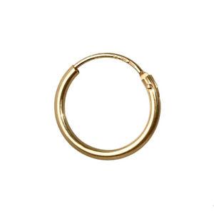 Einzel (1Stück) Creole 750 echt Gold Ohrring Herren Männer Damen 11mm MF29