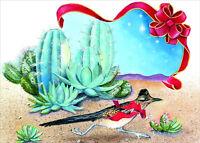 Road Runner In Desert Nancy Kaestner Box Of 18 Western Christmas Cards