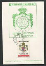 MALTESERORDEN SMOM S.M.O.M. MK 1972 WAPPEN BLAZON MAXIMUM CARD MC CM d2698