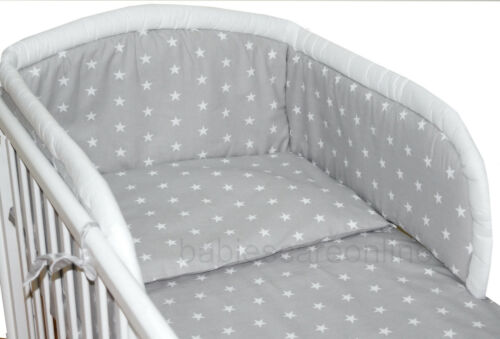 BABY BEDDING SET //BUMPER// DUVET COVER//PILLOWCASE to fit COT or  COT BED