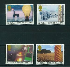 GB-QE-II-1986-industry-Year-full-set-of-stamps-Mint-Sg-1308-1311