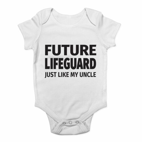 Future Lifeguard Just Like My Uncle Cute Boys and Girls Baby Vest Bodysuit