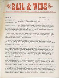 1975-Rail-amp-Wire-Newsletter-Illinois-Railway-Museum-Green-Hornet-Chicago-PCC