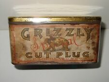 Grizzly Special Cut Plug Tobacco Tin - P. Lorillard & Co. - 1890 Tax Stamp