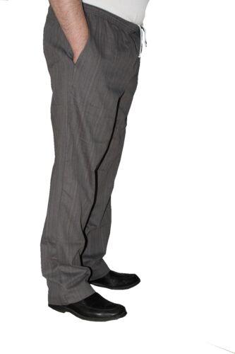 Men/'s Ultimate Baggy Chef Pant  100/% Cotton Herringbone Grey