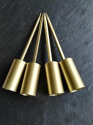 4 x adventskranzstecker 12cm schwer gold kerzenhalter. Black Bedroom Furniture Sets. Home Design Ideas