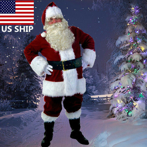 Santa Claus Suit Adult Christmas Costume Fancy Dress