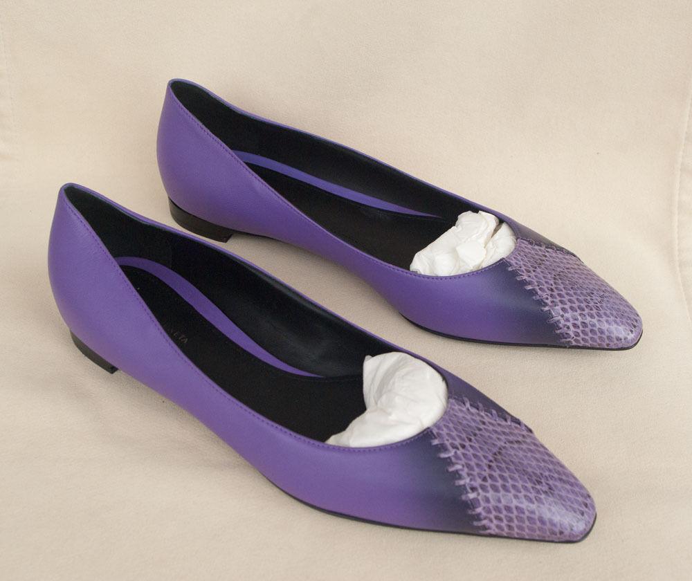 Nuevo Auténtico BOTTEGA VENETA Intrecciato Cuero Cuero Cuero Ballet Zapatos sin Taco Sin. 38EU 680    ventas calientes