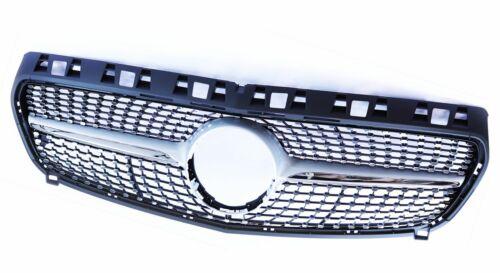 SPORT griglia anteriore Grill Diamante AMG a45 ottica ARGENTO MERCEDES w176 classe a 15