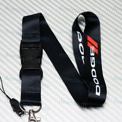 Lanyard Keyring Key Chain Cellphone for JDM DODGE CHARGER Black Car Neck Strap