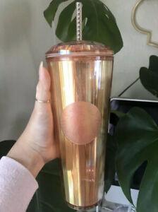 NEW Starbucks Iridescent Rose Gold Venti Tumbler 2020 Summer Limited Edition