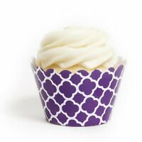 Dress My Cupcake Royal Purple Spanish Tile Cupcake Wrappers, Set Of 12
