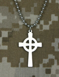 Official-U-S-Military-CELTIC-CROSS-GI-Jewelry-Stainless-Steel-Necklace