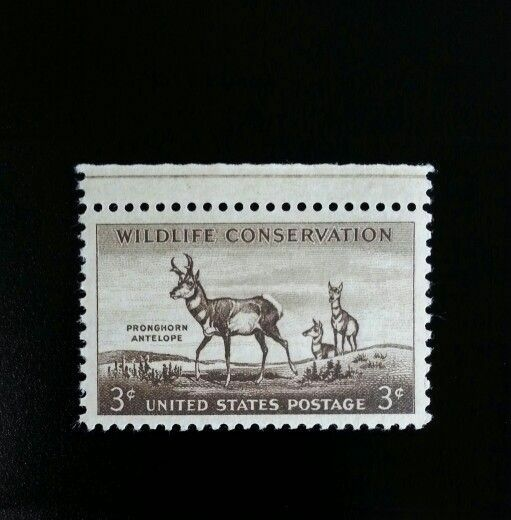 1956 3c Pronghorn Antelope, Wildlife Scott 1078 Mint F/