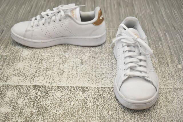 adidas CF Cloudfoam Advantage Women US 6 White Tennis Shoe Da9524