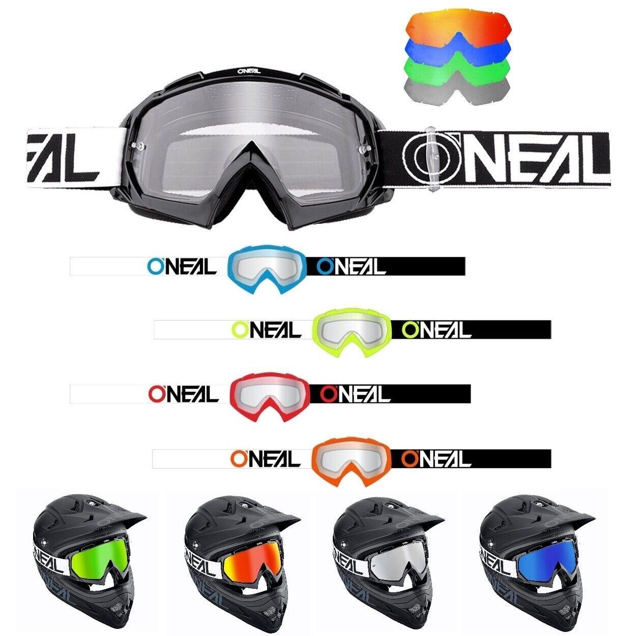 Oneal B-10 TWOFACE MX MX MX Enduro Crossbrille verspiegelt blau rot grün ff8d39