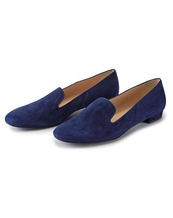 Zapatilla Zapato Zapato Zapato De Cuero Puro En Zafiro UK4 EU37 US6.5 Puro  precios mas bajos