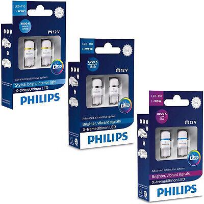 philips xtreme ultinon vision 360 led t10 501 w5w car bulbs 4000k 6000k 8000k ebay. Black Bedroom Furniture Sets. Home Design Ideas