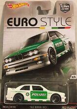 """Hotwheels Raro Euro Style 92 BMW M3 Real Rider Neumáticos de Goma"""""""