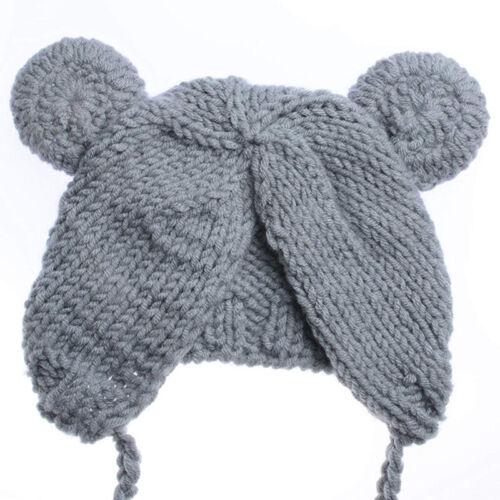 Hat Set Newborn Baby Girl Boy Photography Prop Photo Crochet Knit Costume Bear