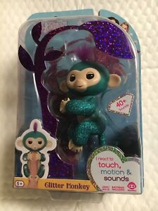 Crease-Resistance Electronic & Interactive Other Interactive Toys Lovely ????authentic Genuine Wowwee Glitter Quincy Teal Monkey Hot Htf Nib???