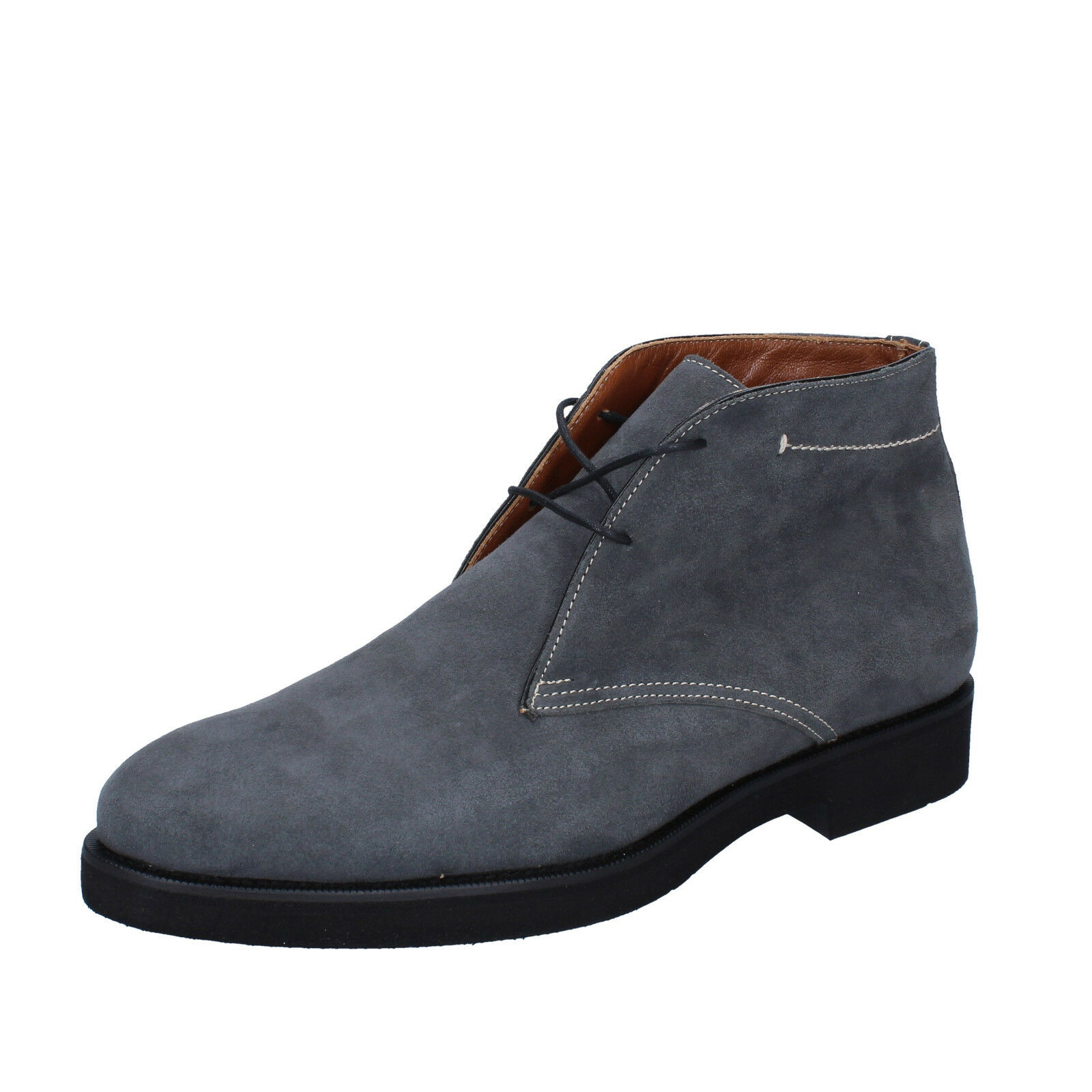 men's shoes ALEXANDER 7 () desert boots gray suede BY453-40