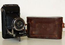 KODAK REGENT Folding Camera CARL ZEISS Compur TESSAR f4.5 Lens LEATHER CASE 1930