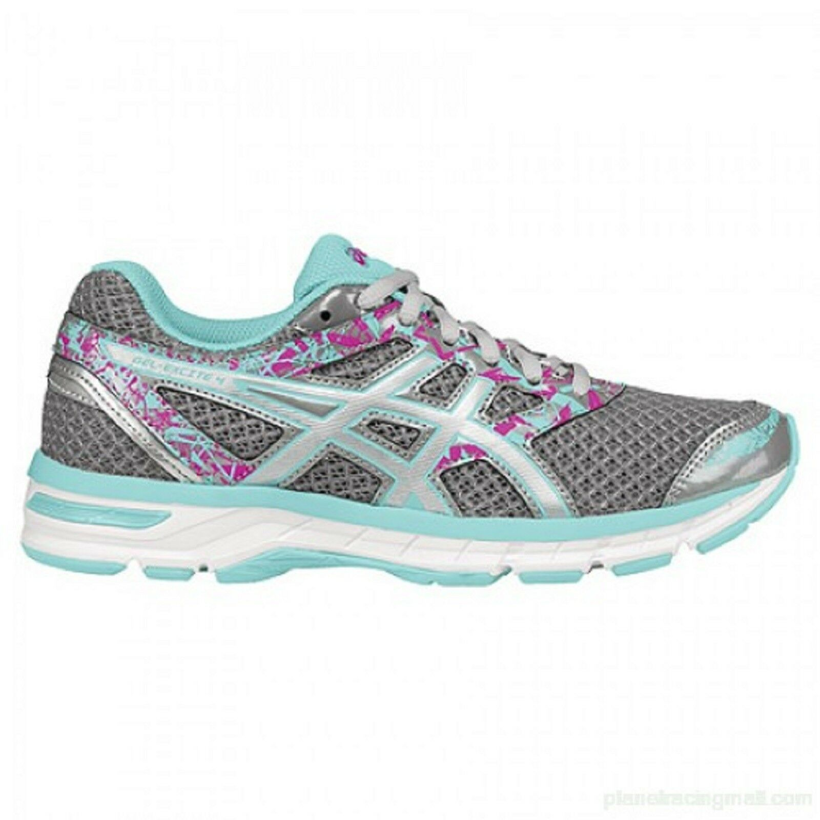 ASICS femmes  GEL-EXCITE 4  (T6E8N) Running Chaussures  GRY/WHT/AQUA/PK Sz. 7  NIB