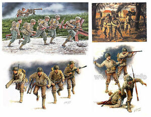 SET-OF-4-KITS-034-WWII-US-ARMY-SOLDIERS-034-1-35-MASTER-BOX-3511-3520-3521-35130