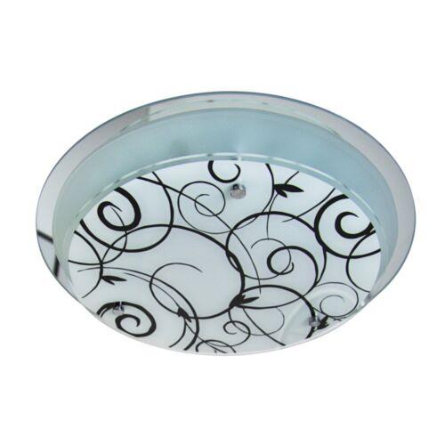 Deckenleuchte Leuchte Deckenstrahler Glas Deckenlampe Leuchten Flurlampe rund