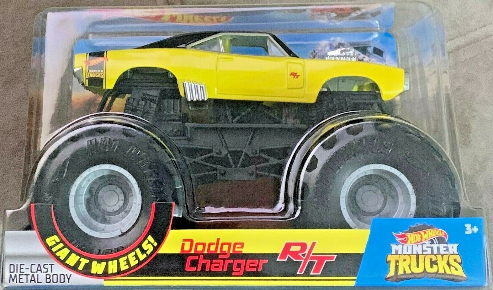 Hot Wheels 2019 Monster Trucks Dodge Charger R T Gbv30 1 25 Scale Diecast For Sale Online