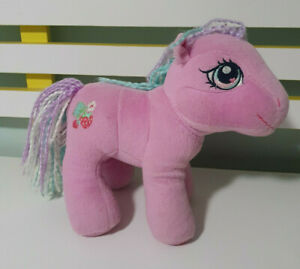 MY-LITTLE-PONY-PLUSH-TOY-SWEETBERRY-CHARACTER-TOY-2004-HASBRO-PINK-MLP-22CM-TALL