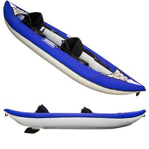 Kayaking, Canoeing & Rafting Aquaglide Columbia Xp Two 13.5 Ft Inflatable Kayak For 1-2 Paddlers
