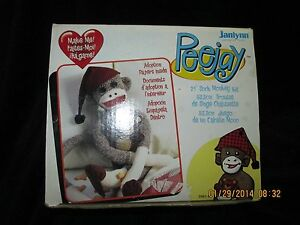 "Sock Monkey Kit, PeeJay from Janlynn make 21"" Monkey with Hat & Bear, Date 2007"