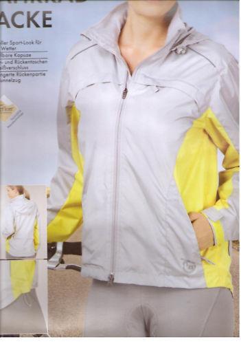 Fahrradjacke Outdoor Jacke Jacken Damen Fitness Sport Funktionsjacke S M L grau
