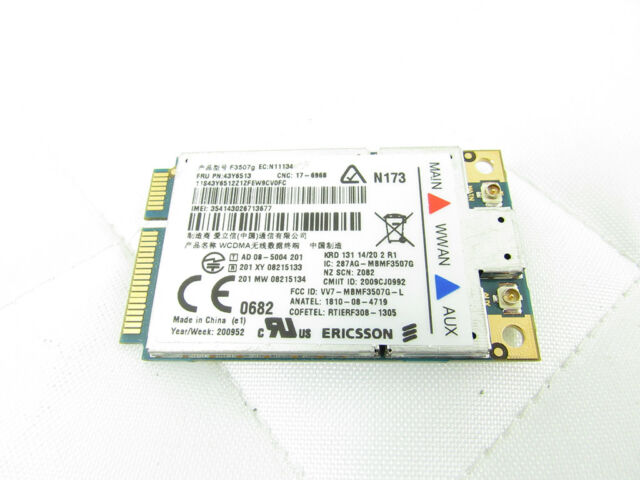 ERICSSON F3507G MOBILE BROADBAND MINI CARD 64BIT DRIVER