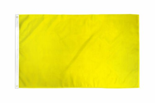 2x3 Yellow Solid Color 210D 2/'x3/' Knitted Poly Nylon DuraFlag Banner FI