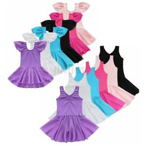 Toddler-Girls-Ballet-Dress-Kids-Gymnastics-Dance-Dress-Leotard-Tutu-Dancewear