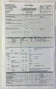 2009-NBC-tv-show-LOST-AND-FOUND-set-used-CALL-SHEET-location-map-Pilot-Episode