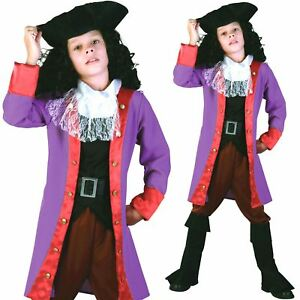 Image is loading Boys-Captain-Hook-Costume-World-Book-Day-Pirate-  sc 1 st  eBay & Boys Captain Hook Costume World Book Day Pirate Sailor Child Fancy ...