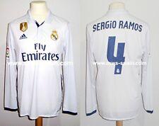 REAL MADRID CF #4 SERGIO RAMOS LFP 2016-2017 FIFA BADGE MATCH UN WORN SHIRT