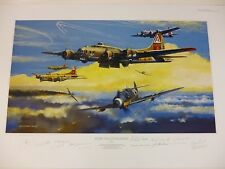 Ruhr Valley Raiders Collector's Editio 13 WWII air/ground crew signers B17 Me109