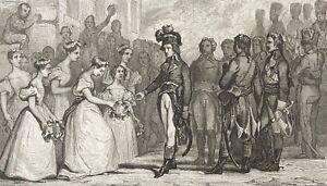 Bonaparte Reçu En Suisse Française Gravure Vers 1850 Napoléon Nettoyage De La Cavité Buccale.