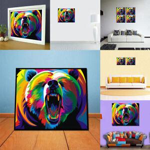 peinture l 39 huile tableau abstraite art moderne ours. Black Bedroom Furniture Sets. Home Design Ideas