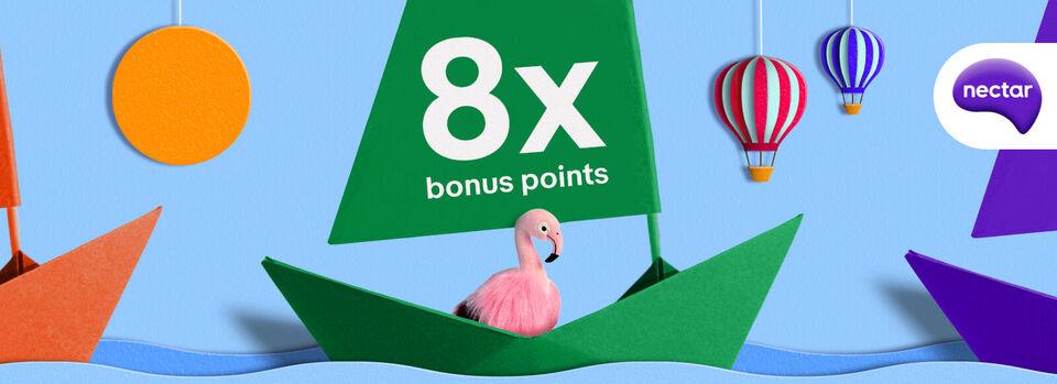 Activate now - 8x bonus Nectar points. Full speed ahead!*